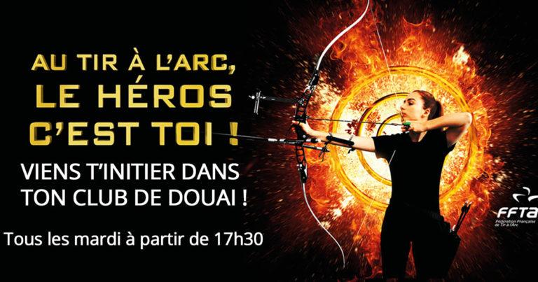 Séance pour l'initiation du tir à l'arc DOUAI les mardis à 17h30