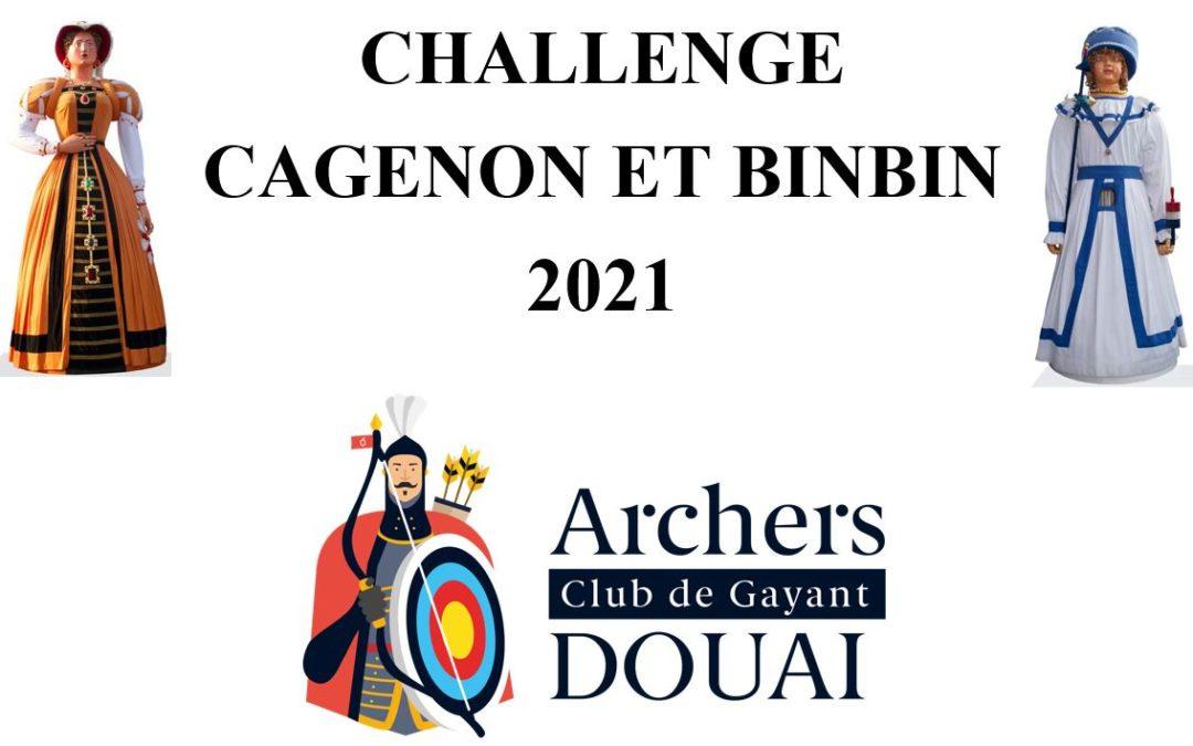 CHALLENGE CAGENON/BINBIN, il est de retour!